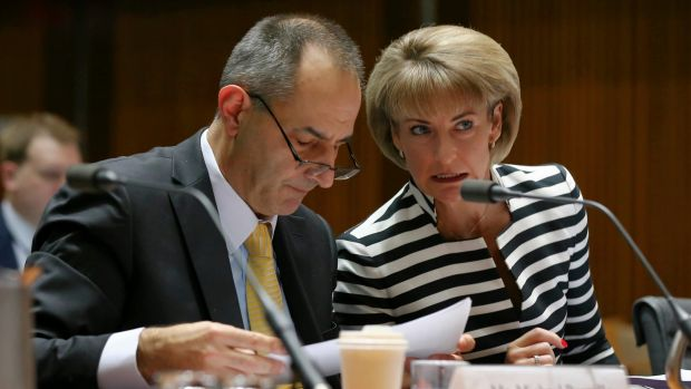 Immigration Department secretary Michael Pezzullo, pictured with Employment Minister Michaelia Cash, said he had no ...