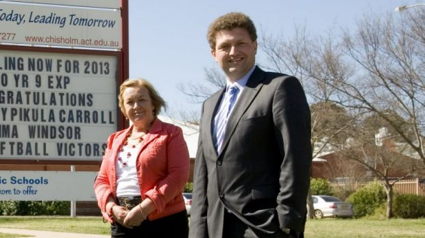 Joy Burch and Karl Maftoum during the 2012 election campaign.