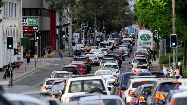 Peak Northbourne: Congestion on ACT roads is tipped to cost $400 million in 2030.