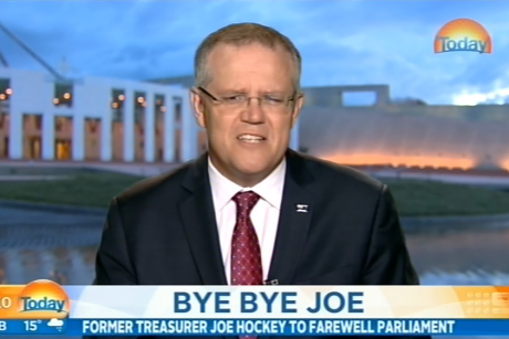 Treasurer Scott Morrison on the <i>Today</i> show