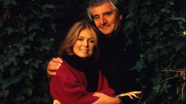 Gloria Steinem with her late husband, David Bale, in 2000.