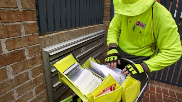 Letters can now take weeks to be delivered, under the slower two-speed mail system.