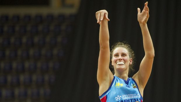 Young Capitals guard Stephanie Talbot in action.
