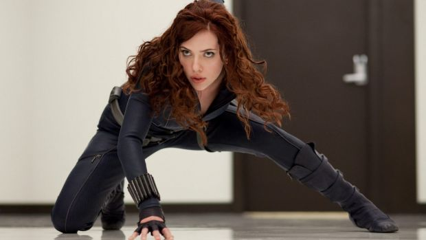 Scarlett Johansson as Marvel's Black Widow.
