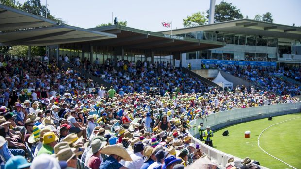 Manuka Oval may host a Test match next year.