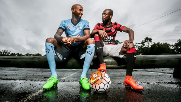 Friends ... off the pitch: Mickael Tavares and Romeo Castelen.