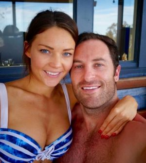 Sam Frost and Sasha Mielczarek in a photo he posted Thursday night.