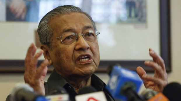 Former Malaysian prime minister Mahathir Mohamad at a press conference last year.