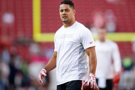 Raring to go: Jarryd Hayne is eyeing a recall to the active roster.