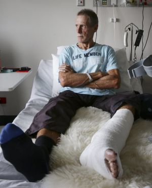 Dave Quinlivan survived a mauling from a great white.
