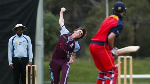 Wests/UC fast bowler Sam Skelly finished with figures of 0-17 from five overs against Tuggeranong on Saturday.