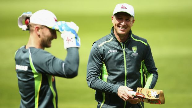 Successful successor: Brad Haddin with Peter Nevill during the Ashes tour.