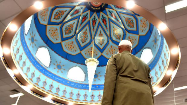 Scenes from Lakemba Mosque, which is open to the public for National Mosque Open Day on Saturday.