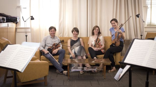 The Australian String Quartet, from left: Stephen King, Sharon Draper, Sophie Rowell and Francesca Hiew.