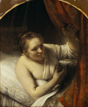 Rembrandt's striking A woman in bed, 1647.