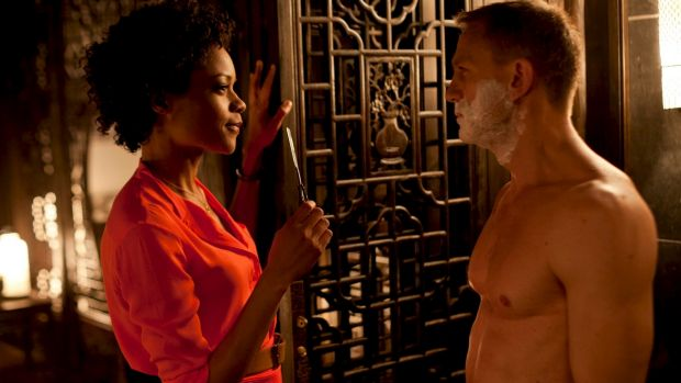 More chivalrous Bond: Naomie Harris and  Daniel Craig in <i>Skyfall</i>.