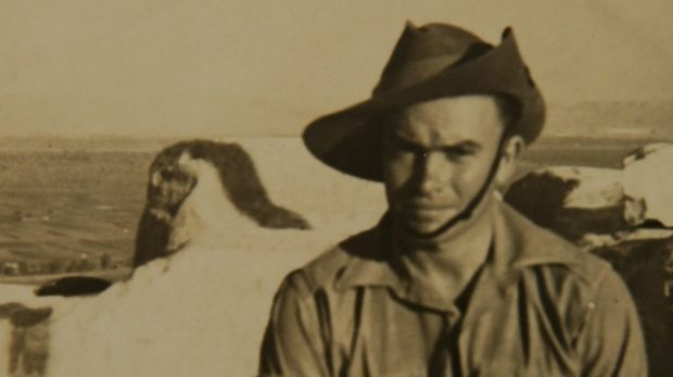One of the last remaining Anzacs, Alf Carpenter. He fought in the battle of Crete in 1941.