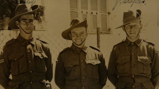 Corp Catley, Alf Carpenter and Private Jim Staples in 1940.