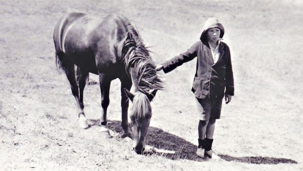 Lennie Gwyther, 9, and his pony Ginger Mick who in 1932 travelled 1000km from Leongatha to the opening of the Sydney ...