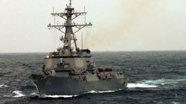 The US Navy guided-missile destroyer which was sent close to China's man-made islands on Tuesday.