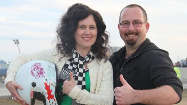 Annabel Crabb and Ricky Muir on the ABC's <i>Kitchen Cabinet</i>.