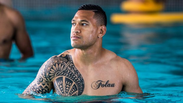 Numbers game: Israel Folau is ready to play after ankle surgery.
