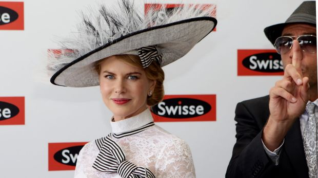 Nicole Kidman in the Swisse marquee in 2012.