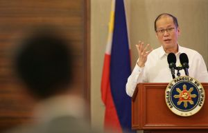 Philippine President Benigno Aquino III  in Paranaque, south of Manila, on Tuesday. He said his government was ...