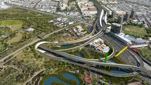 An artists's of the East Link Link.