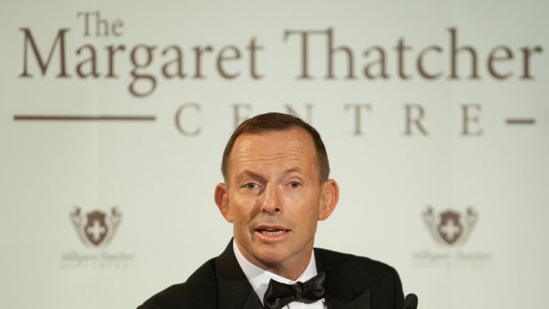 Tony Abbott gave The Margaret Thatcher lecture in London.