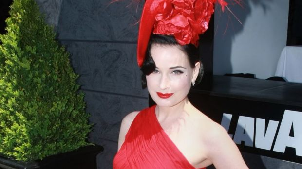 Dita Von Teese at the Lavazza marquee in 2011.