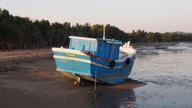 'Kanak', one of two boats which asylum seekers were transferred onto by Australian Border Force after being intercepted ...