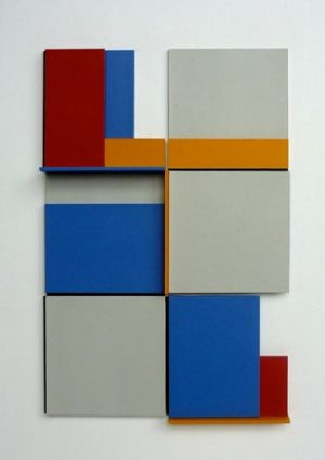 Andrew Christofides'2,3,5x4 Cluster 3 at Nancy Sever Gallery.