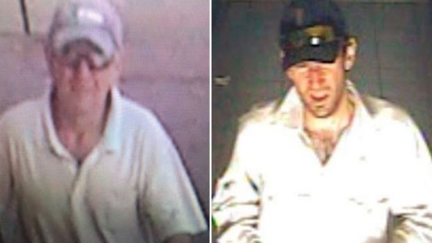 CCTV images of Gino and Mark Stocco before their arrest.