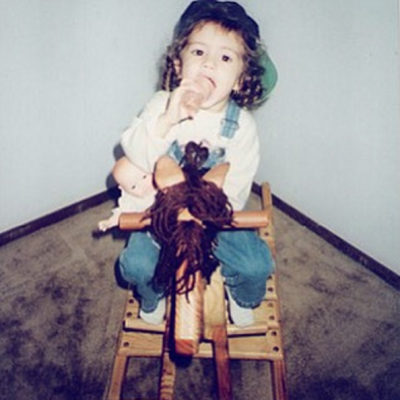 Selena Gomez shared this picture of herself aged five on her Instagram account.