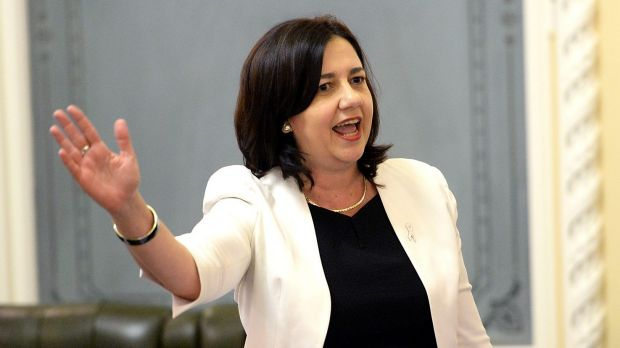 Queensland Premier Annastacia Palaszczuk: sometimes her punch lines land, sometimes they miss.