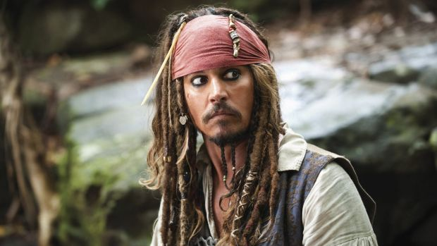 Johnny Depp in Pirates of the Caribbean.