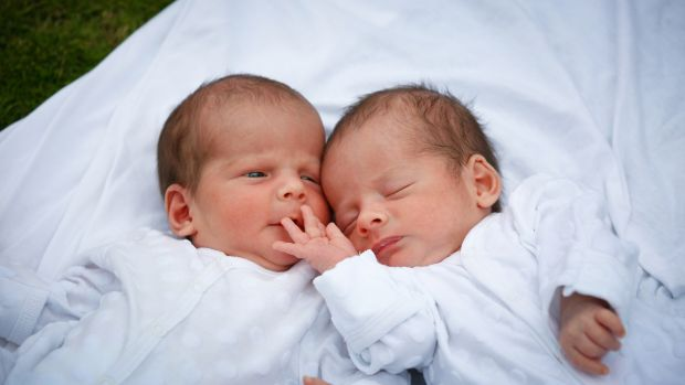"The twin babies of father ""Nick Martin"", born to a surrogate in Nepal and denied exit visas for six weeks. The babies ..."