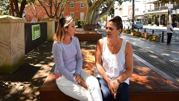 Jeanne Albrecht (right) with her daughter Ilana Albrecht  at Rozelle Public School.