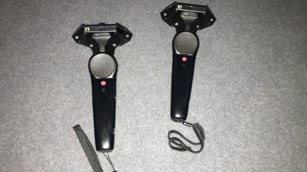 HTC Vive's specially designed controllers.