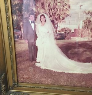 A wedding photo of Gino and Connie Stocco.