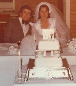 Gino and Connie Stocco on their wedding day.