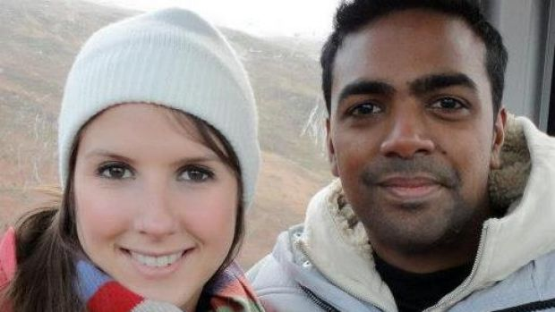 Danielle Hooker and her boyfriend, Rav Pillay, who disappeared when the boat on which they were whale watching sank.