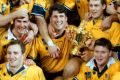 Golden period: The Wallabies celebrate winning the 1999 Rugby World Cup.