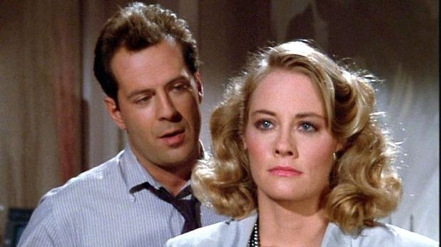 <i>Moonlighting</i> Bruce Willis and Cybill Shepherd, about an unlikely pairing of private eyes.