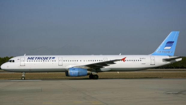 The Airbus A321 that crashed in Egypt's Sinai peninsula.