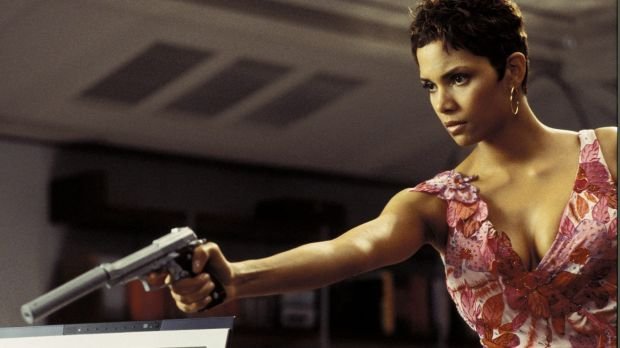 "Actress Halle Berry, is shown in a scene from the new James Bond film ""Live To Die Another Day"" in this undated ..."