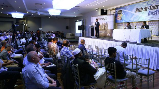 "Hizb ut-Tahrir conference in Sydney on Sunday: ""A Community Criminalised: Innocent Until Proven Muslim""."