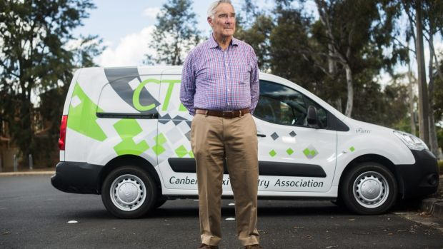 Chairman of the Canberra Taxi Industry Association, John McKeough: exploring legal action.