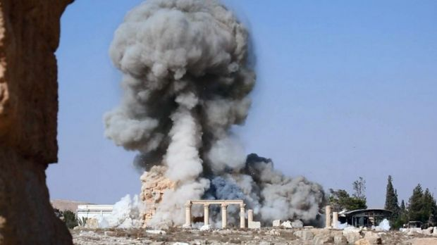 Islamic State blew up the 2000-year-old temple of Baalshamin in Palmyra last year.